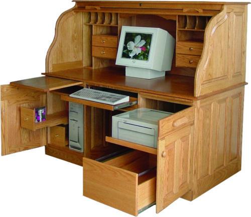 Heirloom Deluxe Roll Top Desk
